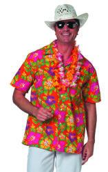 Hawaii Shirt Korte Mouw voor Heren - oranje