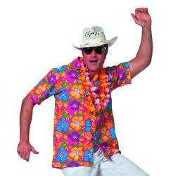 Hawaii Shirt Korte Mouw voor Heren - roze