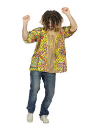 Oversized Woodstock Hippie Shirt voor Heren