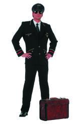 Luxe Herenkostuum Piloot - zwart
