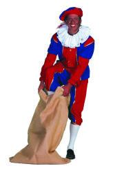 Pieten Kostuum Heren - rood/blauw