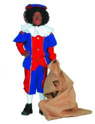 Pieten Kostuum voor Kinderen - rood/blauw