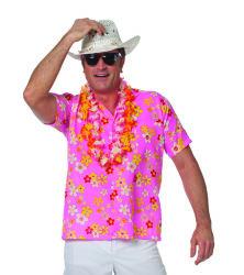 Hawaii Hemd Bloemen voor Heren - roze