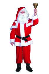 Kerstmankostuum Fluweel voor Heren
