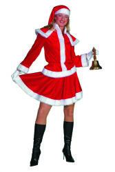 Kerstvrouw Kostuum Fluweel