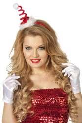 Tiara kerstmuts springveer