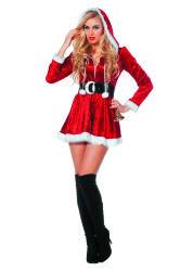 Kerstvrouw Kostuum kort