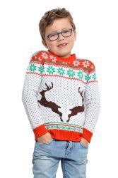 Kersttrui met Print Rendieren - kinderen - wit