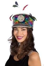 Pet Burning Man Rainbow met veren - multi rainbow