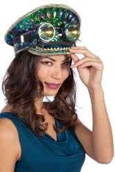 Pet Burning Man Stones (met bril) - blauw/groen