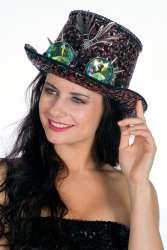 Hoge hoed Burning Man (met bril) - multi