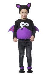 Babykostuum Monster - zwart/paars