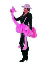 Roze Struisvogel Kostuum voor Volwassenen
