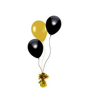 Helium trosje 3 ballonnen - kleuren naar keuze