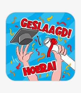 HSchild - Geslaagd cartoon