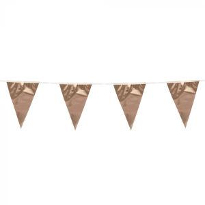 Metallic minivlaggenlijn roségoud (3 m)
