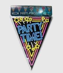Neon vlaggenlijn - Party time!