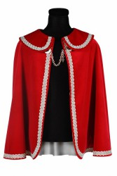 Prinsenmantel kort, Rood-Zilver
