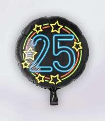Folie Ballon Neon - 25 Jaar