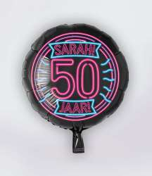 Folie Ballon Neon - Sarah 50 Jaar -S40