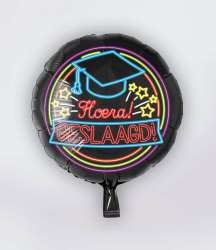 Neon Folieballon Geslaagd