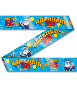 Party Tape - Abraham 50 jaar cartoon