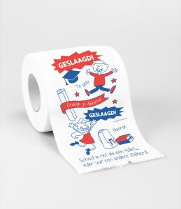 Toiletpapier - Geslaagd school