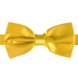 Vlinderstrik Deluxe - geel