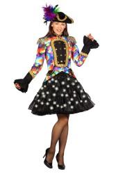 Petticoat ''Bellatrix'' met witte LED - zwart