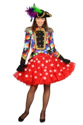 Petticoat ''Bellatrix'' met witte LED - rood