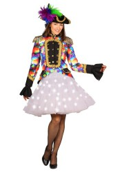 Petticoat ''Bellatrix'' met witte LED - wit