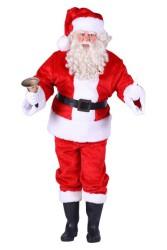 Pluche kerstman, Rood