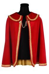 Prinsenmantel kort, Rood-Goud