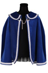 Prinsenmantel kort, Blauw-Zilver