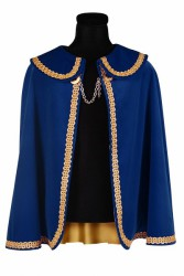 Prinsenmantel kort, Blauw-Goud
