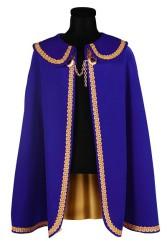 Prinsenmantel lang, Blauw-Goud