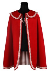 Prinsenmantel lang, Rood-Zilver